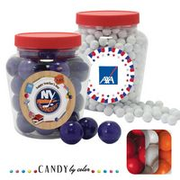 945554412-105 - Apothecary Tub Resealable Container Filled w/ Gumballs - thumbnail