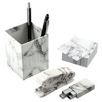 596159559-115 - 4 Piece Faux Marble Desktop Set - thumbnail