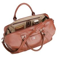 "711400458-115 - Cutter & Buck® 19"" Leather Weekender Duffel Bag - thumbnail"