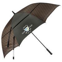 "745911101-115 - 64"" Cutter & Buck Plaid Golf Umbrella - thumbnail"