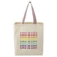 756487767-115 - Rainbow Recycled 8oz Cotton Grocery Tote - thumbnail