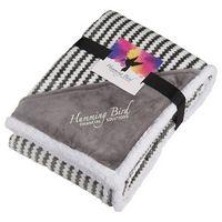 905812827-115 - Field & Co.® Chevron Striped Sherpa Blanket w/Card - thumbnail