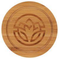 985783286-115 - Round Bamboo Coaster Set with Holder - thumbnail