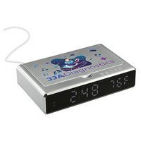 996375776-115 - UV Sanitizer Desk Clock with Wireless Charging - thumbnail