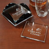 135379012-116 - Square Glass Coaster Set - thumbnail