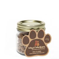 195185695-116 - Cat Treats in Half Pint Jar w/ Paw Magnet - thumbnail