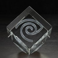 504165268-116 - Extra Large Jewel Cube 3D Crystal Award - thumbnail