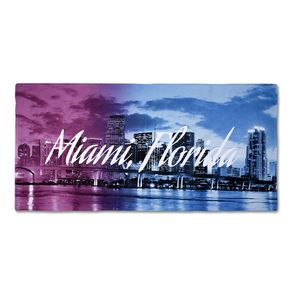 906517707-116 - 25% Polyester/75% Cotton Blended Beach Towel 28x58 - thumbnail