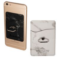 125893451-159 - Tuscany™ Marble Card Holder w/Metal Ring Phone Stand - thumbnail