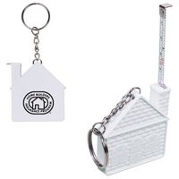 145666281-159 - 3 Ft. House Tape Measure Key Chain - thumbnail
