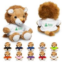 "155717538-159 - 7"" Plush Lion w/T-Shirt - thumbnail"