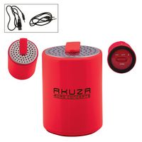 165666924-159 - Round Plastic Mini Wireless Speaker - thumbnail