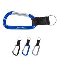 375666591-159 - Carabiner Keychain w/Strap & Split Ring - thumbnail