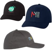 375710848-159 - Adult Flexfit® Brushed Twill Fitted Cap - thumbnail