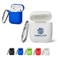 906097759-159 - Silicone Earbud Case w/Carabiner Clip - thumbnail