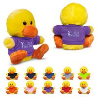 "965719486-159 - 7"" Plush Duck w/T-Shirt - thumbnail"