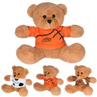 "995446656-159 - 7"" GameTime!® Plush Bear w/T-Shirt - thumbnail"