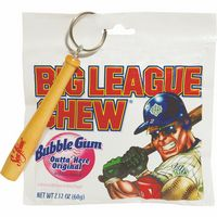 312282854-815 - Big League Chew® & Mini Baseball Bat Key Chain - thumbnail