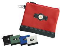 526484081-815 - Leatherette Valuables Zippered Pouches Leatherette Valuables Cinch Pouches - thumbnail