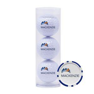 563992236-815 - 3-Ball Tube w/Poker Chip Ball Marker - thumbnail