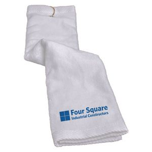 "79972771-815 - Turkish Trifold Golf Towel 16""x25"" (White) - thumbnail"