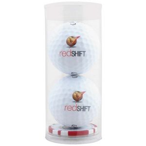 993992247-815 - 2 Ball Tube w/Poker Chip Ball Marker - thumbnail