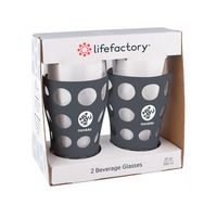116439664-190 - 20 oz. lifefactory® Beverage Glass with Silicone Sleeve 2 Pack - thumbnail