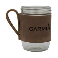 515322444-190 - BREWSTER Wide Mouth Mason Jar w/ Leather Handled Sleeve - thumbnail
