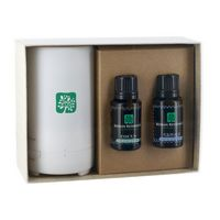 734955099-190 - Electronic Diffuser with Two Essential Oil 15 Ml. Dropper Bottles in Gift Box - thumbnail