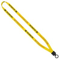 "743520850-190 - 1/2"" Dye Sublimated Stretchy Elastic Lanyard w/Plastic Clamshell & O-Ring - thumbnail"