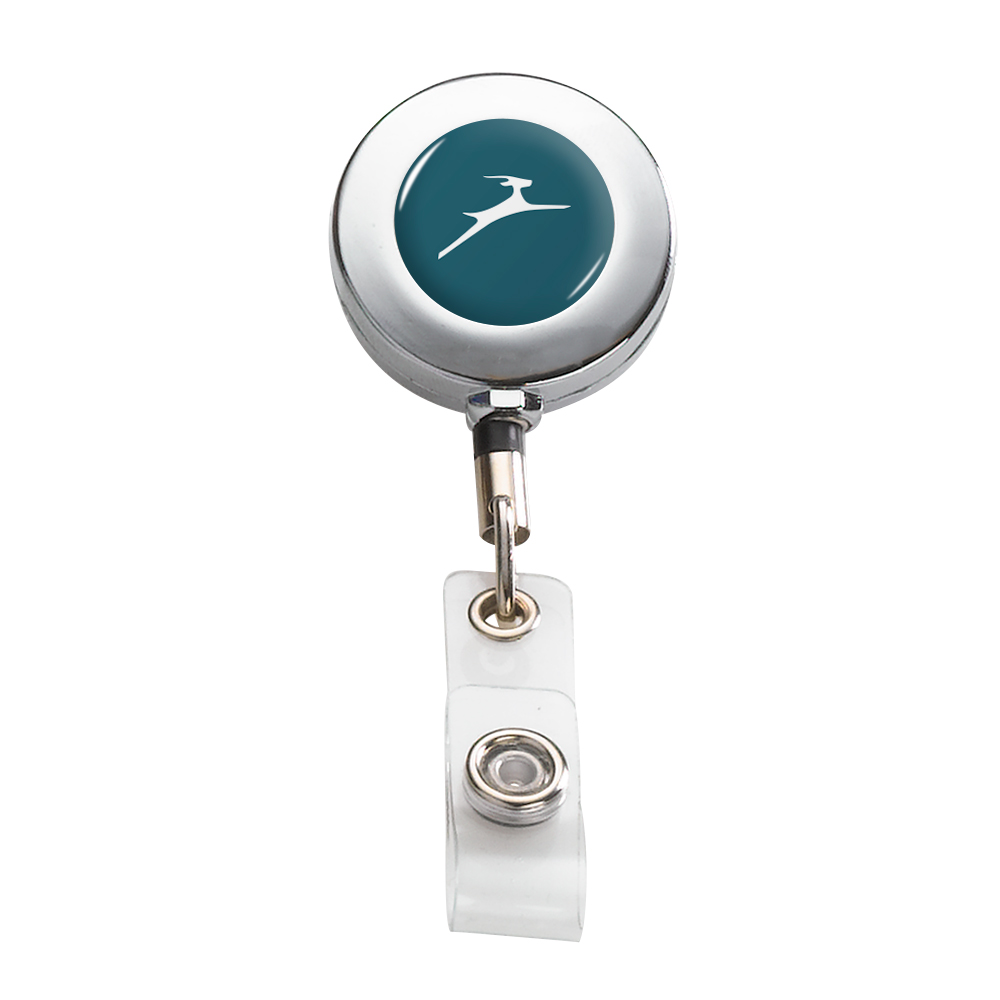 995322405-190 - Imported Metal Retractable Badge Reel with Belt Clip - thumbnail