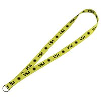 "325450423-103 - Full Color 3/4"" Elastic Lanyard w/ Ring - thumbnail"