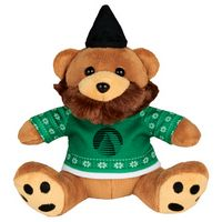 "915156224-103 - 6"" Ugly Sweater Hipster Plush Bear - thumbnail"