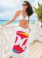995548428-173 - Heavyweight American-Made White Beach Towel - thumbnail
