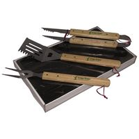 331530484-815 - Premium Wood Handle BBQ Set - thumbnail