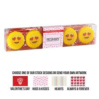 145309584-153 - Charming Chocolate Covered Oreo Gift Box - Emoji Design (5 pack) - thumbnail