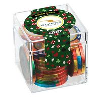 145310672-153 - Casino Cube w/ Chocolate Poker Chips - thumbnail
