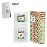 166414166-153 - 8 oz. Sanitizer & Candy Container in Mailer box - Hershey Holiday Kisses - thumbnail