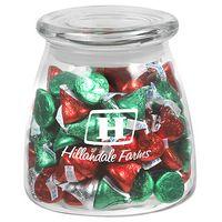 315182861-153 - Vibe Glass Jar - Hershey's Holiday Kisses (27 Oz.) - thumbnail