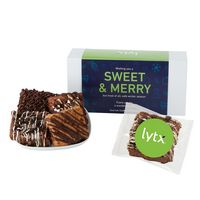 336185078-153 - Fresh Baked Brownie Gift Set - 6 Assorted Brownies - in Gift Box - thumbnail