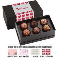 365549305-153 - Valentine's Day 6 Piece Decadent Truffle Box - Assortment 2 - thumbnail