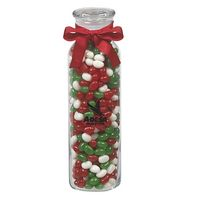 525182933-153 - Glass Hydration Jar - Holiday Gourmet Jelly Beans (16 Oz.) - thumbnail