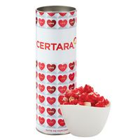 "576194966-153 - 8"" Valentine's Day Snack Tubes - Cutie Pie Popcorn - thumbnail"