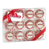 715048311-153 - Elegant Chocolate Covered Printed Oreo Gift Box - Nonpareil Sprinkles/Printed Cookies (12 Pack) - thumbnail
