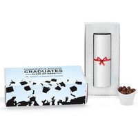 "756259963-153 - 8"" Single Snack Tube Graduation Gift in Mailer Box - Milk Chocolate Almonds - thumbnail"