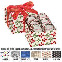795469126-153 - Gala Gift Box w/ 5 Chocolate Covered Custom Oreo® Cookies w/ Holiday Nonpareils (Large) - thumbnail