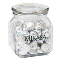 903799960-153 - Contemporary Glass Jar - Hershey's® Kisses® (20 Oz.) - thumbnail