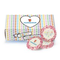 916463524-153 - Custom Sugar Cookie w/ Valentine's Day Sprinkles in Mailer Box (12) - thumbnail