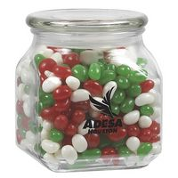 935182904-153 - Contemporary Glass Jar - Holiday Gourmet Jelly Beans (20 Oz.) - thumbnail