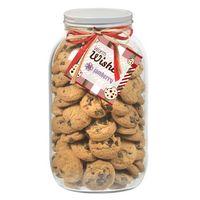 945182979-153 - 64 Oz. Glass Mason Cookie Jar (Mini Chocolate Chip Cookies) - thumbnail